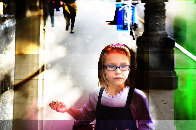 Petite fille à Seattle