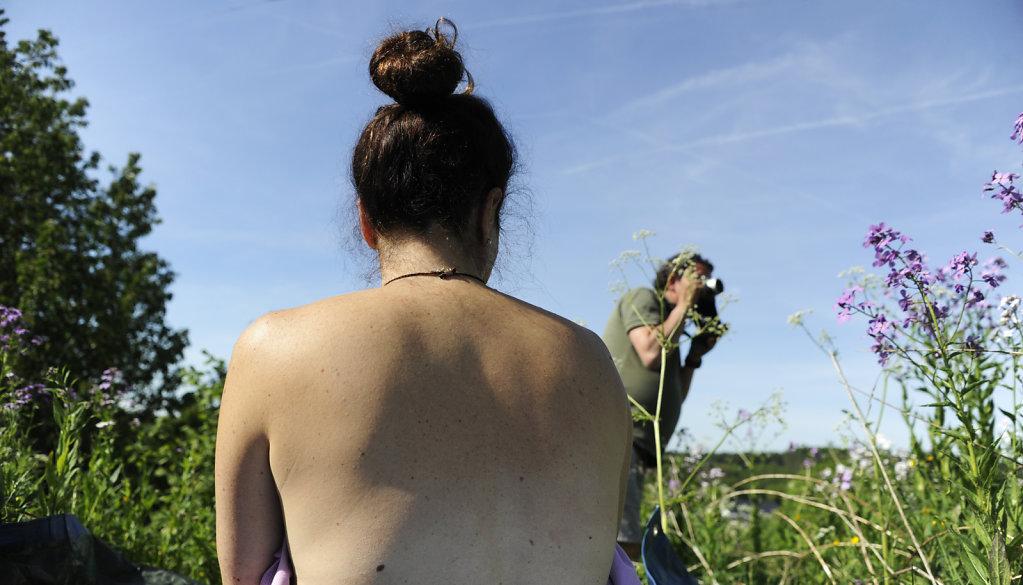Le photographe et son sujet.